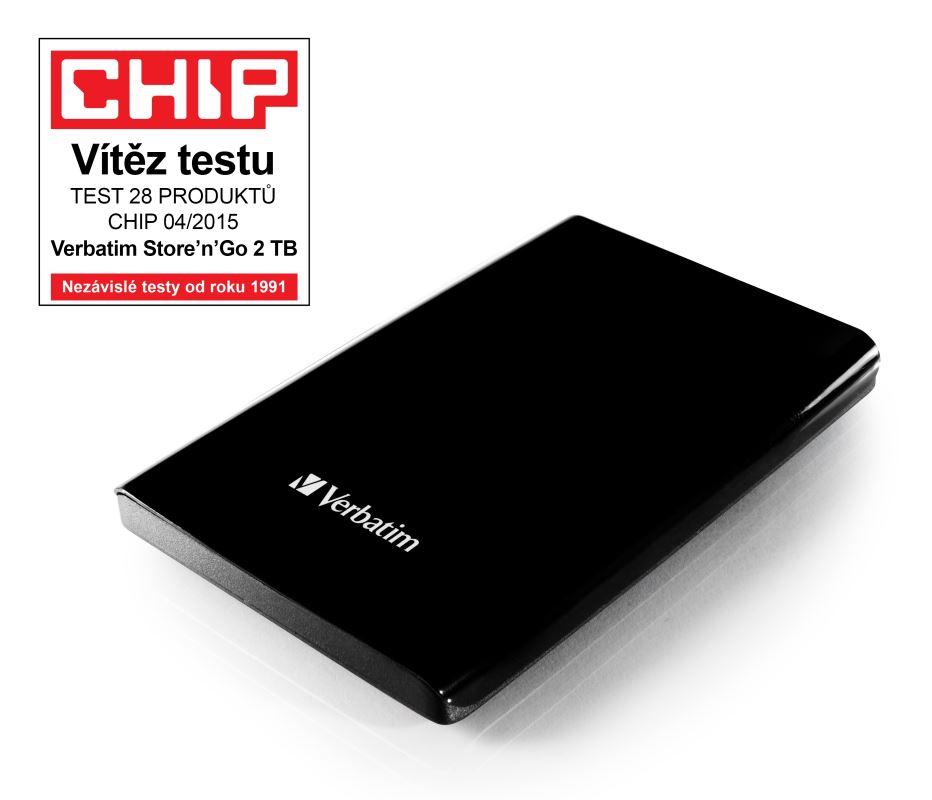 """HDD 2.5"""" 2TB USB 3.0 černý, Green Button, externí harddisk Store 'n' Go Verbatim"""