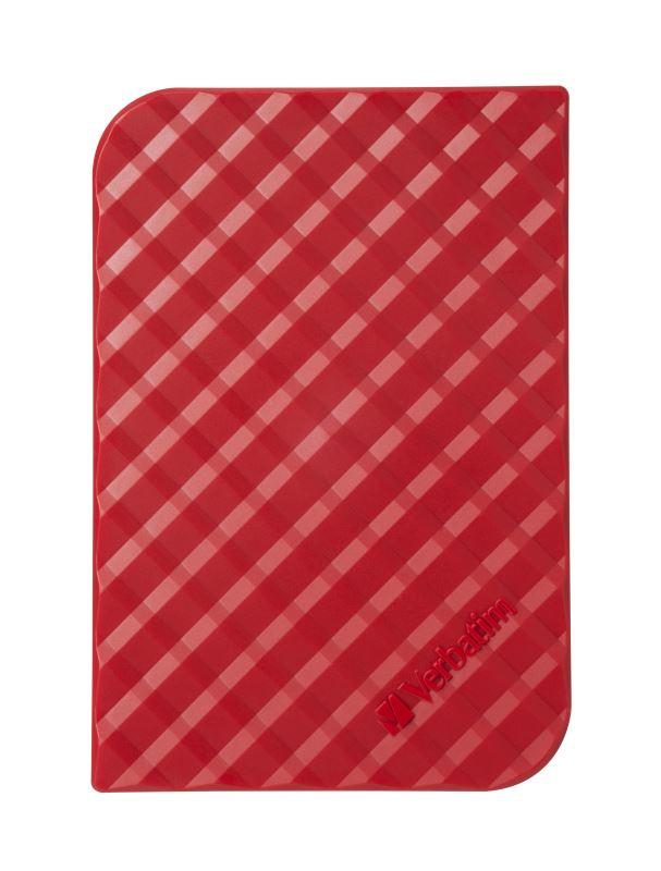 "HDD 2.5"" 1TB USB 3.0 SuperSpeed červený, GEN2, Green Button, externí harddisk Store 'n' Go Verbatim"