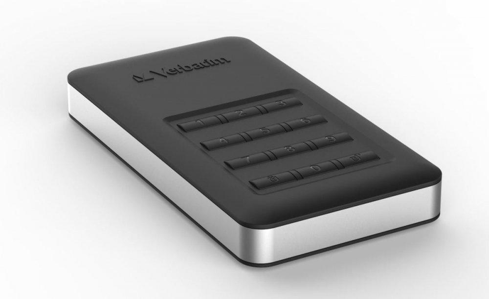 """HDD 2.5"""" 1TB USB 3.1/USB-C, šifrovaný externí disk s numerickou klávesnicí, Store 'n' Go Verbatim"""