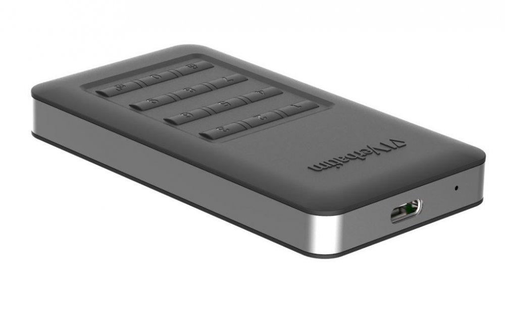 Verbatim SSD 256GB disk USB 3.1,USB-C, šifrovaný externí s numerickou klávesnicí, černý Store 'n' Go