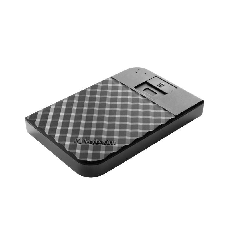 "HDD 2.5"" 2TB USB 3.1/USB-C, Fingerprint Secure externí disk, Store 'n' Go Verbatim"