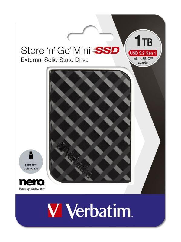 Verbatim SSD 1TB GEN2 USB 3.2 gen 1 Store 'n' Go mini, externí, černý