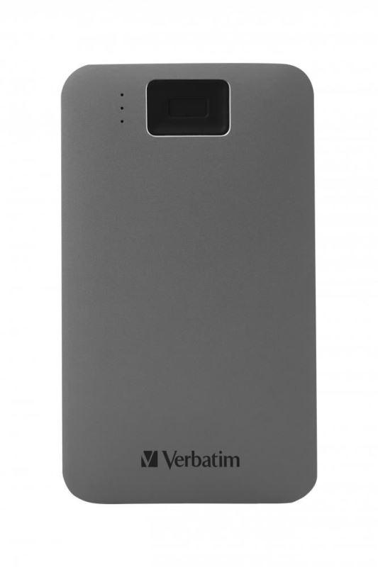 "HDD 2.5"" 2TB USB 3.2/USB-C, Executive Fingerprint externí disk, Verbatim"