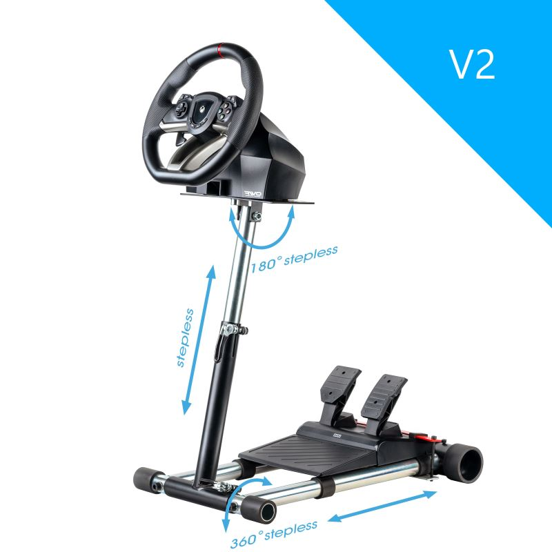 Wheel Stand Pro DELUXE V2, stojan pro volant a pedály pro Hori Overdrive a Apex