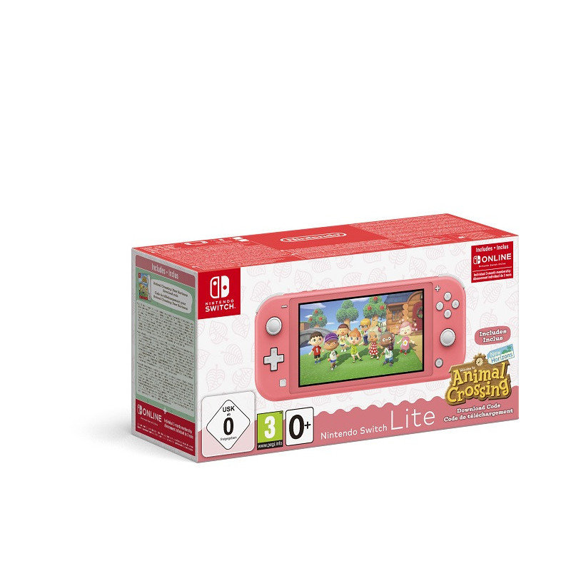 Nintendo Switch Lite Coral  Animal Crossing: New Horizons