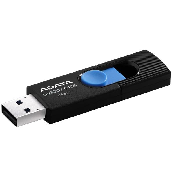 Adata Flash Drive UV320, 64GB, USB 3.0, čierno-modra