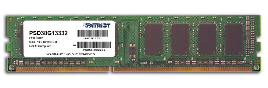 Patriot 8GB 1333MHz DDR3 CL9 15V DIMM