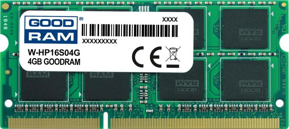 GOODRAM DDR3 SODIMM 4GB 1600MHz CL11 HP