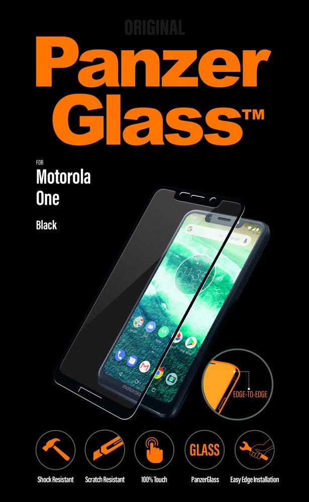 PanzerGlass - Tvrdené sklo pre Motorola One, čierna