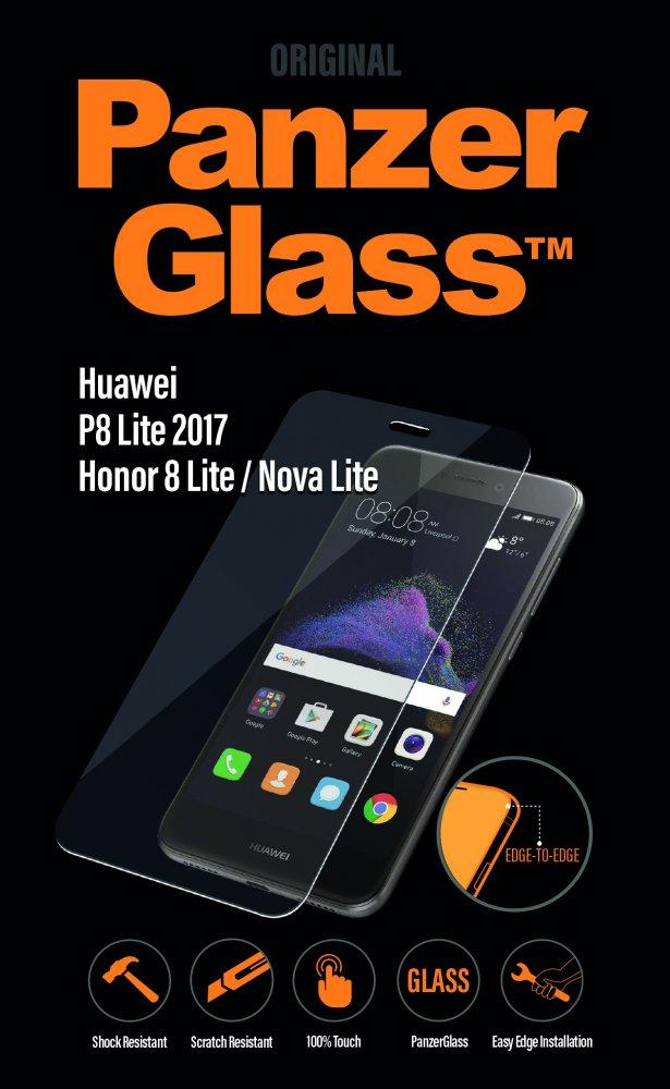 PanzerGlass - Tvrdené sklo pre Huawei P8/P9 Lite 2017/Honor 8 Lite/ Nova Lite, číra
