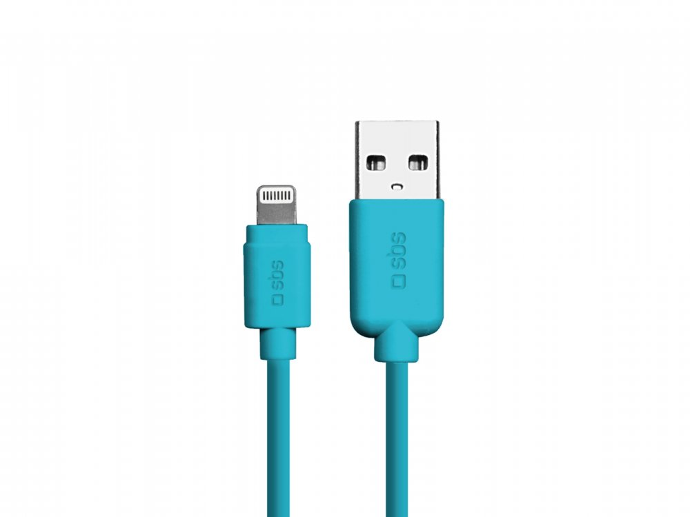 SBS - Kábel USB/MFI Lightning, 1 m, modrá