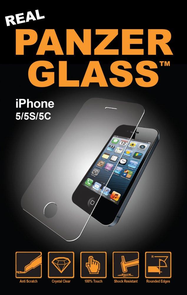 PanzerGlass - Tvrdené sklo pre iPhone SE/5C/5S/5, číra