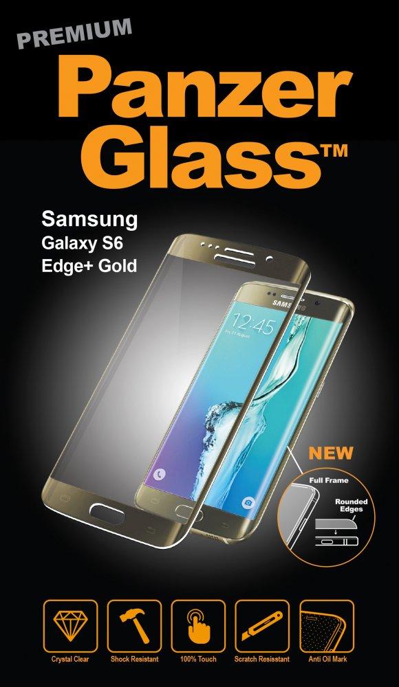 PanzerGlass - Tvrdené sklo PREMIUM pre Samsung Galaxy S6 Edge+, zlatá