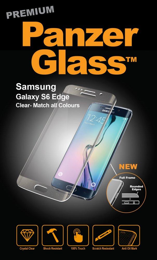 PanzerGlass - Tvrdené sklo PREMIUM pre Samsung Galaxy S6 Edge, strieborná
