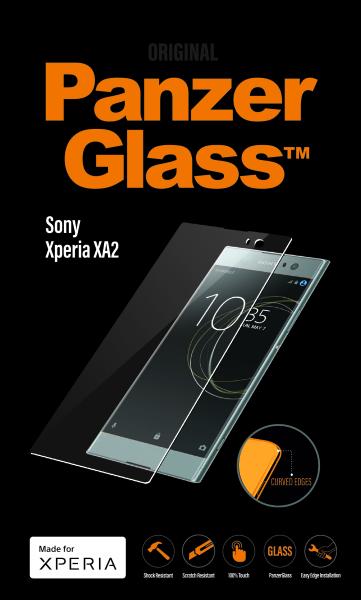 PanzerGlass - Tvrdené sklo PREMIUM pre Sony Xperia XA2, čierna