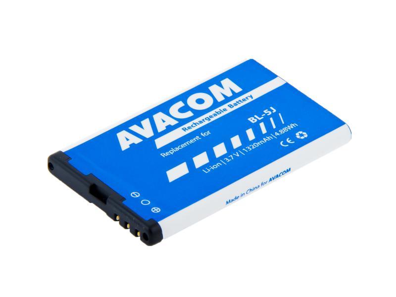 Avacom batéria pre Nokia 5230, 5800, X6, Li-Ion, 3.7V, GSNO-BL5J-S1320, 1320mAh, 4.9Wh, áhrada BL-5J