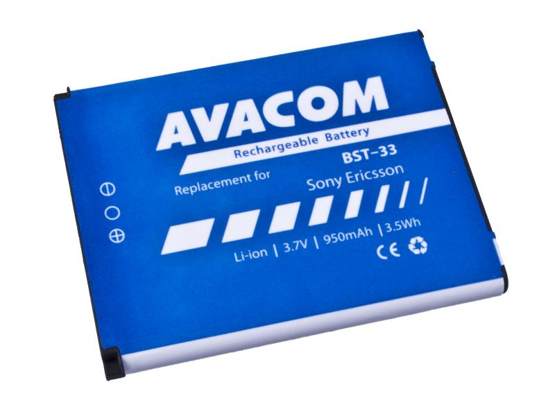 Avacom batéria do mobilu pre Sony Ericsson K550i, K800, W900i, Li-Ion, 3.7V, GSSE-W900-S950A, 950mAh, 3.5Wh