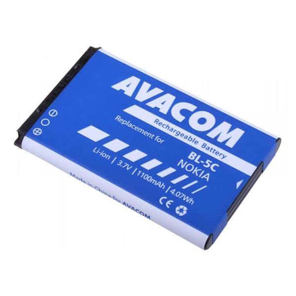 Avacom batéria pre Nokia Li-Ion, 3.7V, GSNO-BL5C-S1100A, 1100mAh, 4.1Wh