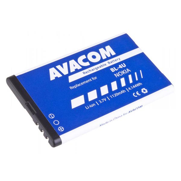 Avacom batéria pre Nokia 5530, CK300, E66,05530, E75, 5730, Li-Ion, 3.7V, GSNO-BL4U-S1120A, 1120mAh, 4.1Wh