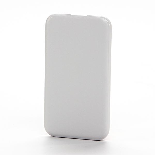 Powerbanka, Li-ion, 5V, 5000mAh, nabíjanie mobilných telefónov a in., 2xkonektor, biela