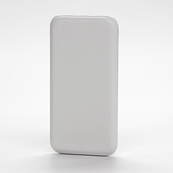 Powerbanka, Li-ion, 5V, 10000mAh, nabíjanie mobilných telefónov a in., 2xkonektor, biela