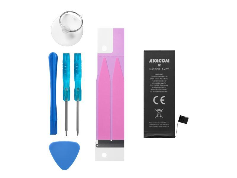 Avacom batéria do mobilu pre Apple, Apple iPhone SE, Li-Ion, 3.82V, GSAP-IPHSE-1624, 1624mAh, 6.2Wh