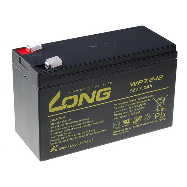Long olovený akumulátor F2 pre UPS, EZS, EPS, 12V, 7.2Ah, PBLO-12V007,2-F2A, WP7,2-12 F2