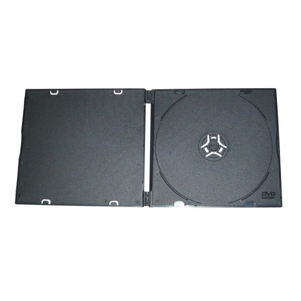 Box na 1 ks CD, mäkký plast, čierny, tenký, 5.2 mm, 200-pack, cena za 1 ks