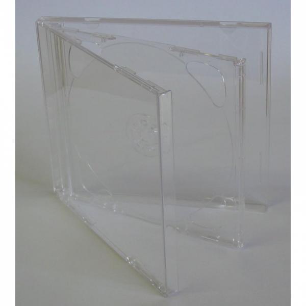Box na 2 ks CD, priehľadný, priehľadný tray, 10,4 mm