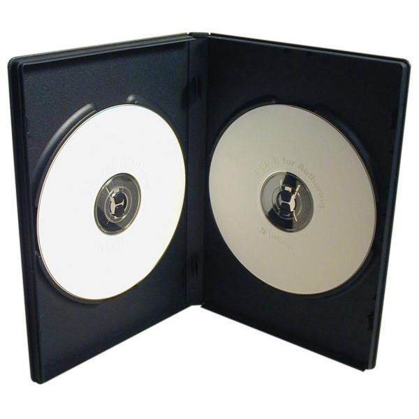 Box na 2 ks DVD, čierny, slim, 7mm, 100-pack, cena za 1 ks