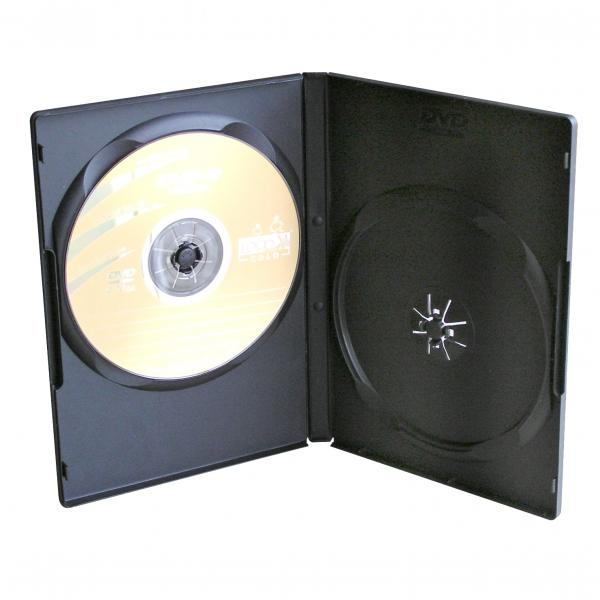 Box na 2 ks DVD, čierny, slim, 9mm, 100-pack, cena za 1 ks