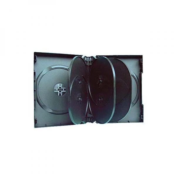 Box na 10 ks DVD, čierny, 33mm
