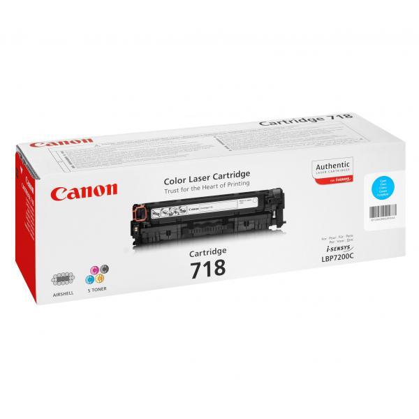 Canon originál toner CRG718, cyan, 2900str., 2661B002, Canon LBP-7200Cdn, O