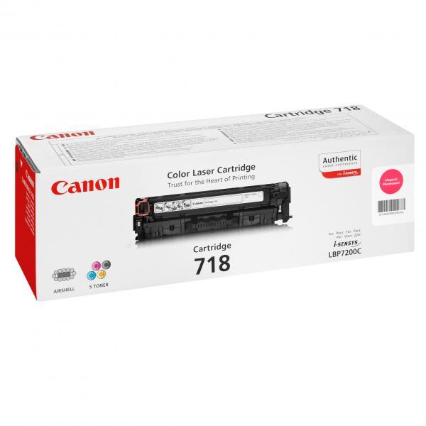 Canon originál toner CRG718, magenta, 2900str., 2660B002, 2660B011, Canon LBP-7200Cdn, O