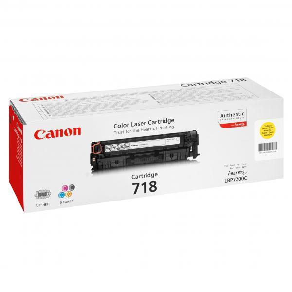 Canon originál toner CRG718, yellow, 2900str., 2659B002, Canon LBP-7200Cdn, O