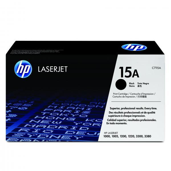 HP originál toner C7115A, black, 2500str., HP 15A, HP LaserJet 1000, 1200, 1200n, 1220, 3300mfp, 3320mfp, O