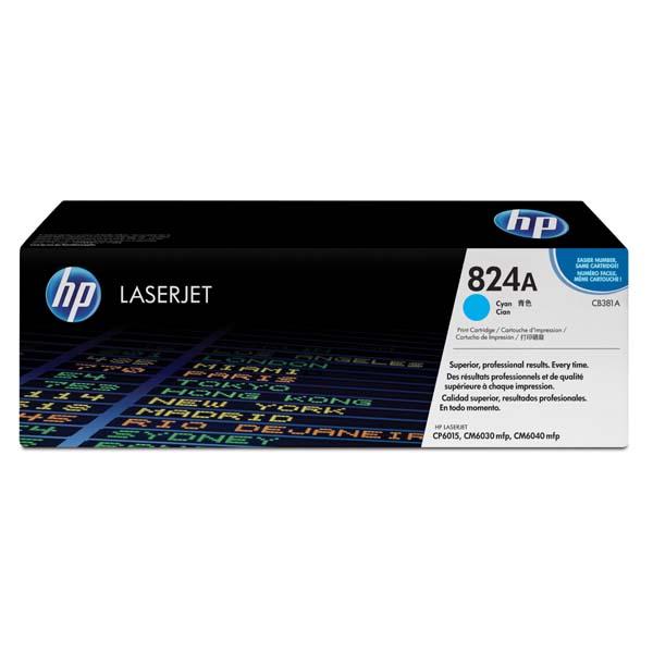 HP originál toner CB381A, cyan, 21000str., HP 824A, HP Color LaserJet CP6015n, dn, xh, CM6030, 6040, O