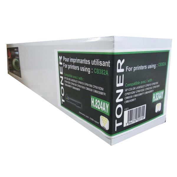 UPrint kompatibil. toner s CB382A, yellow, 21000str., H.824AY, pre HP Color LaserJet CP6015n, dn, xh, CM6030, 6040, UPrint