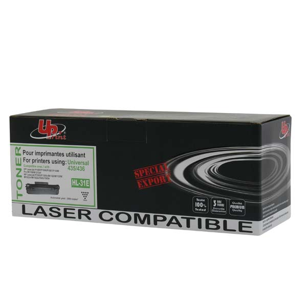 UPrint kompatibil. toner s CB436A, black, 2000str., H.35/36AE, HL-31E, s čipom, pre HP LaserJet P1505, P1506, M1522n, nf MFP, UPri