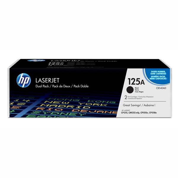 HP originál toner CB540AD, black, 2200str., HP 125A, HP Color LaserJet CP1215, 1515, 1518, dual pack, 2ks, O
