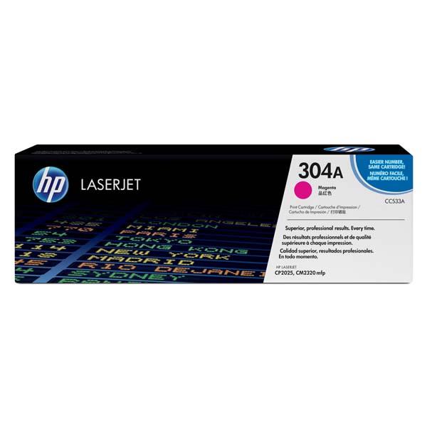 HP originál toner CC533A, magenta, 2800str., HP 304A, HP Color LaserJet CP2025, CM2320, O