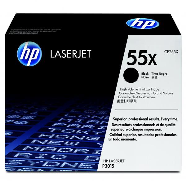 HP originál toner CE255X, black, 12500str., HP 55X, HP LaserJet P3015, LaserJet Pro 500 MFP M521dn, O