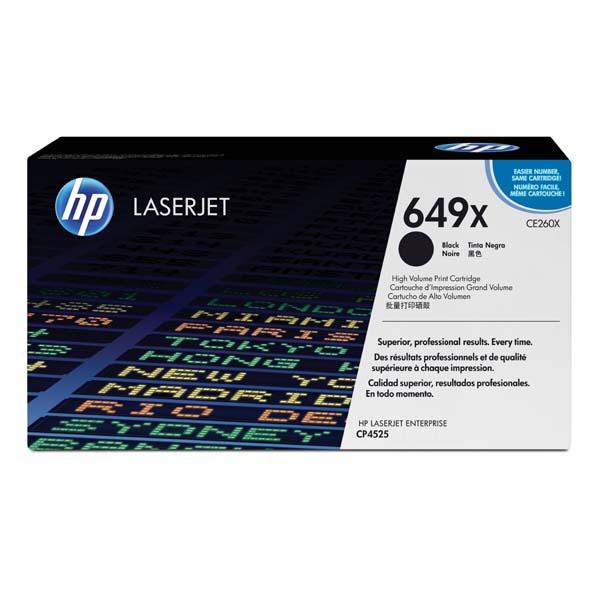 HP originál toner CE260X, black, 17000str., HP 649X, high capacity, HP Color LaserJet CP4525, O