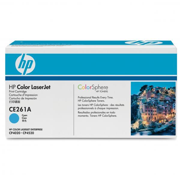 HP originál toner CE261A, cyan, 11000str., HP 648A, HP Color LaserJet CP4025, CP4525, O