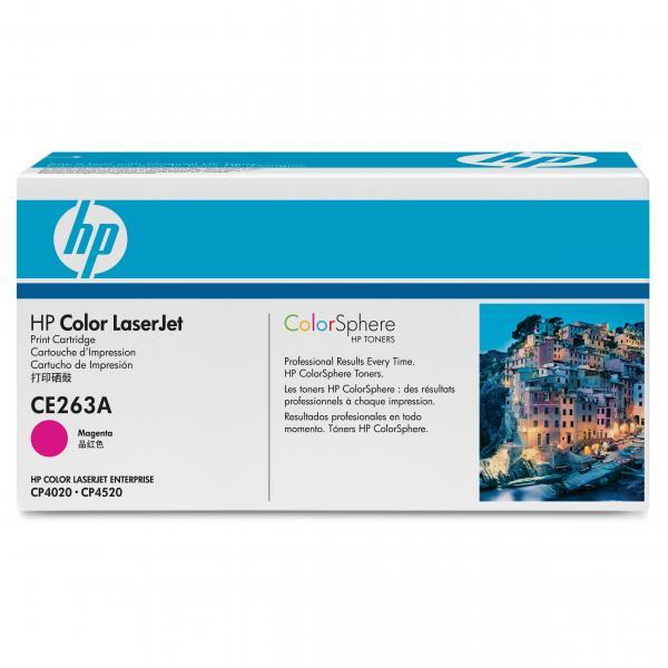 HP originál toner CE263A, magenta, 11000str., HP 648A, HP Color LaserJet CP4025, CP4525, O