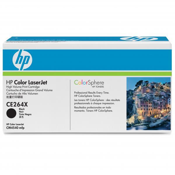 HP originál toner CE264X, black, 17000str., HP 646X, HP LaserJet CM4540, O