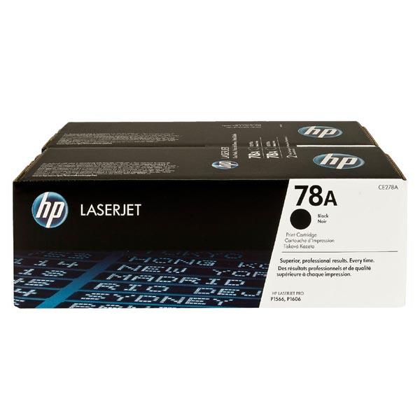 HP originál toner CE278AD, black, 4200 (2x2100)str., HP 78A, HP LaserJet Pro P1566, M1536, dual pack, 2ks, O