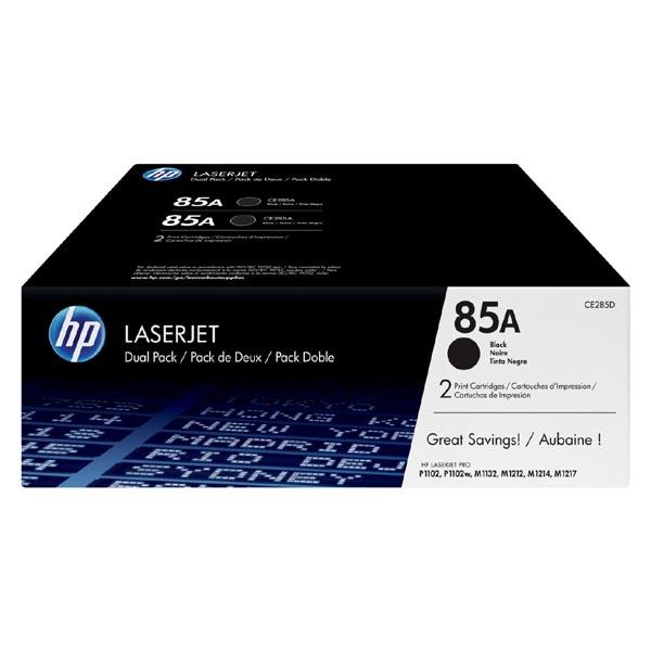 HP originál toner CE285AD, black, HP 85A, HP LJ Pro M1132, M1136, M1212, M1217, P1102, P1106, dual pack, O