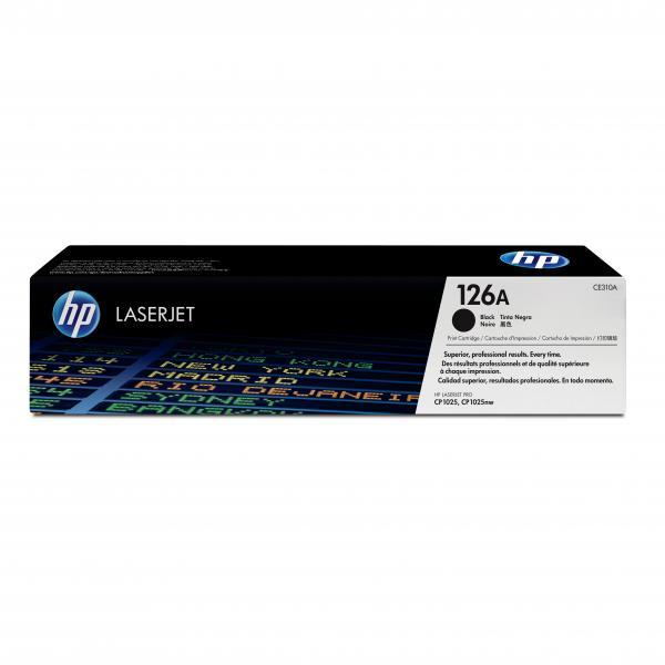 HP originál toner CE310A, black, 1200str., HP 126A, HP LaserJet Pro CP1025, 1025nw, MFP M175, O
