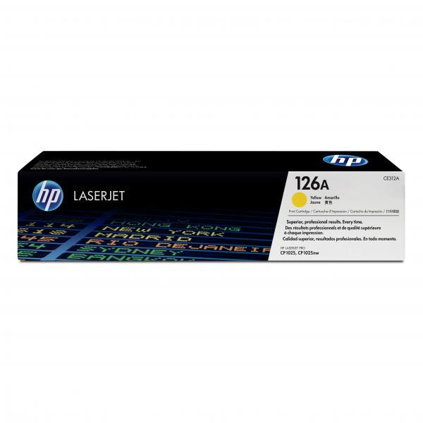 HP originál toner CE312A, yellow, 1000str., HP 126A, HP LaserJet Pro CP1025, 1025nw, MFP M175, O